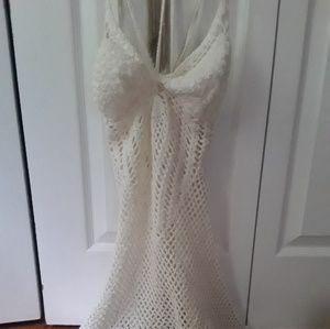 White Crocheted Summer Dress